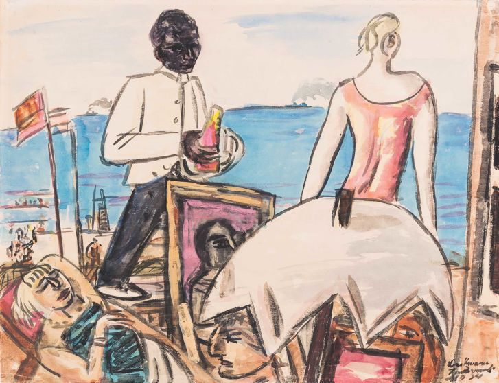 Max Beckmann's 1934 painting of a beach cafe in Zandvoort is one of the artworks on display in Bonn.