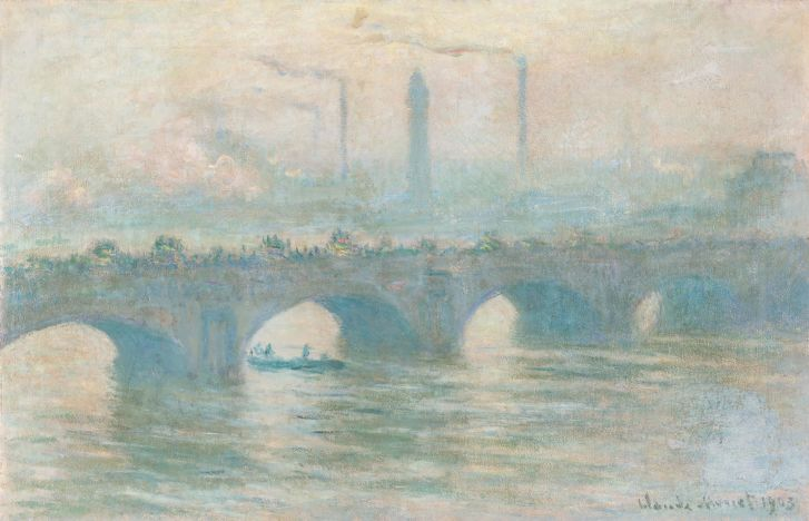 """Many of the works on display in Bonn are fascinating due to the quality of the art as well as """"the human history behind them,"""" said co-curator Rein Wolfs, such as Claude Monet's Waterloo Bridge."""