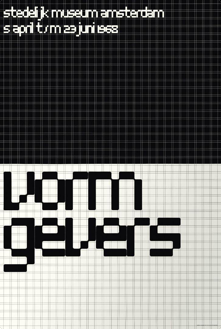 Vormgevers exhibition poster, Total Design for the Stedelijk Museum