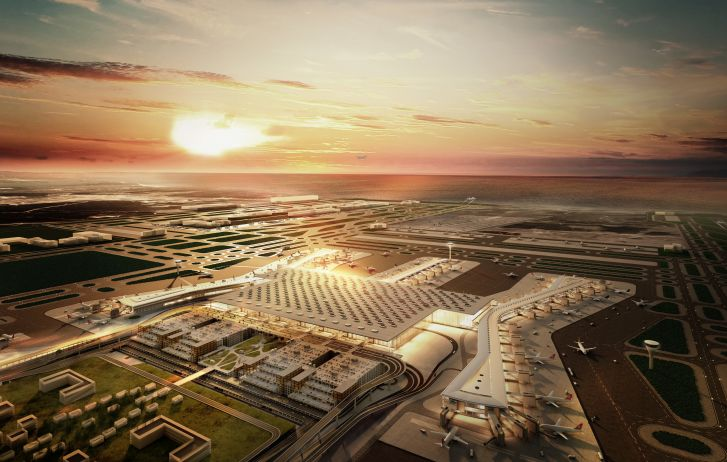Istanbul New Airport terminal, Istanbul by Grimshaw Architects.