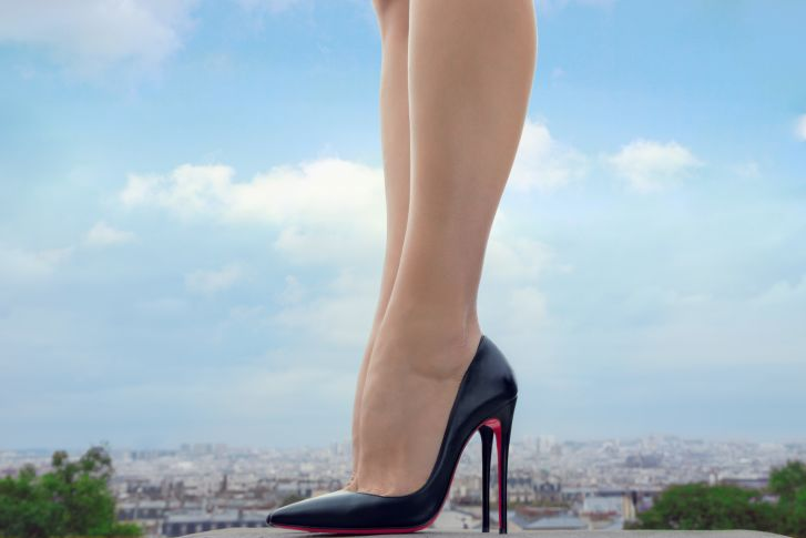 Louboutin is famous for his iconic red-soled replica heels.