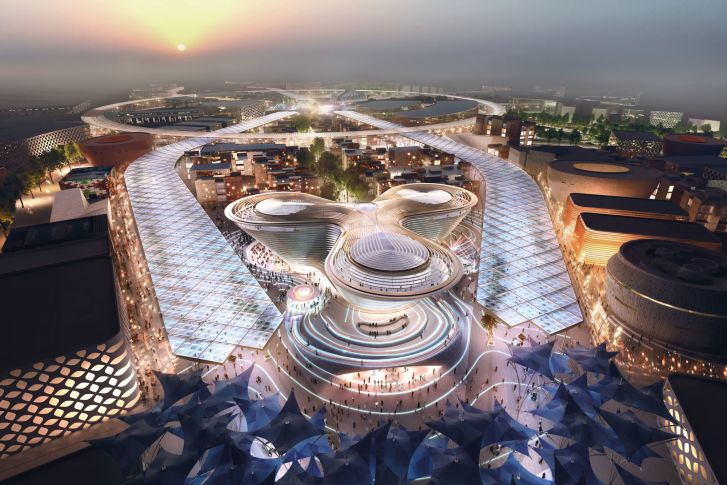 The Foster + Partners designed Mobility Pavilion for Dubai Expo 2020.