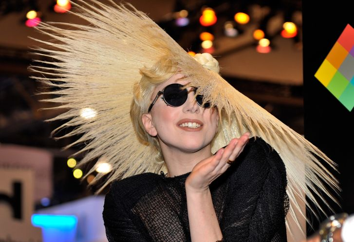 Lada Gaga in one of Le Mindu's creations in 2010