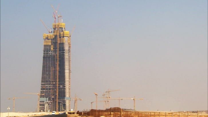 Jeddah Tower, pictured during CNN's visit.