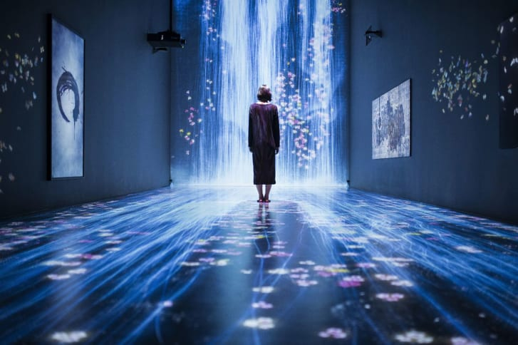 """Pace London exhibited teamLab's """"Transcending Boundaries,"""" in 2017. """"teamLab expressed a sense of wonderment about the new digital world that was not rational,"""" said executive vice president of Pace Gallery, Peter Boris, of first coming across teamLab's works. """"It was calm, undefended, and joyful."""""""