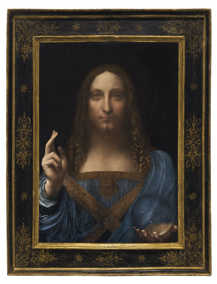 """Salvator Mundi"" (""Savior of the World"") is one of fewer than 20 known paintings by da Vinci."