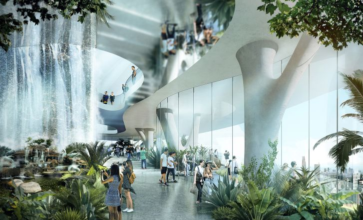 German architect Ole Scheeren said that Empire City and its urban gardens were inspired by Vietnam's geography and tropical climate.
