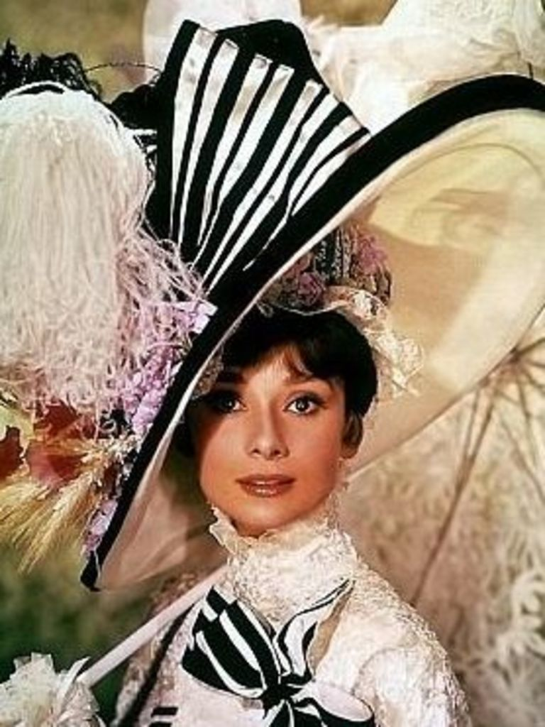 """906d40566882b Audrey Hepburn s floppy wide-brimmed """"My Fair Lady"""" hat is still  inspiration for fashionistas today. Just look at the headpieces at horse  racing events."""