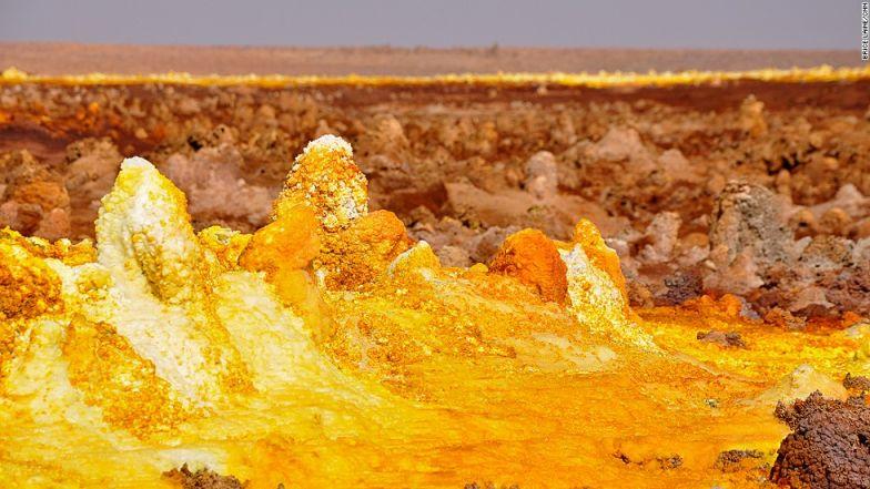 Ethiopia dallol sulphur springs