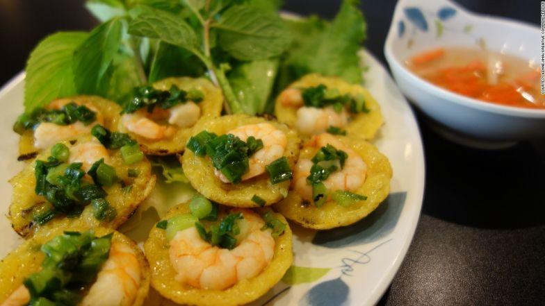 Bite-size, delightful Vietnamese pancakes.