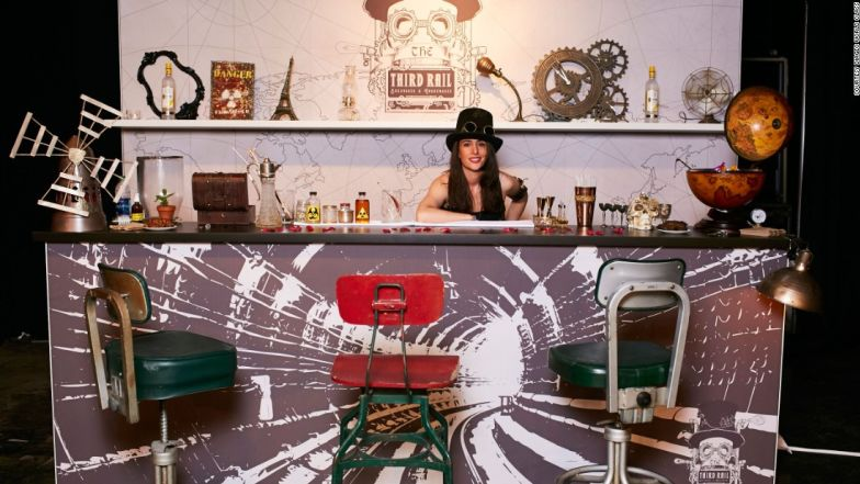 Jennifer Le Nechet created a steampunk-themed bar as part of the World Class competition.
