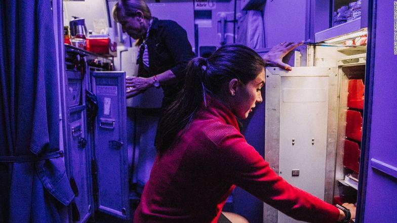 Choma captures behind the scenes at Virgin America.