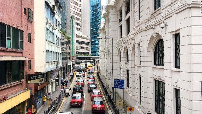 HK Central Mid Levels Escalator Central Police Station