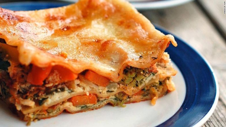 Lasagna is right on so many levels.