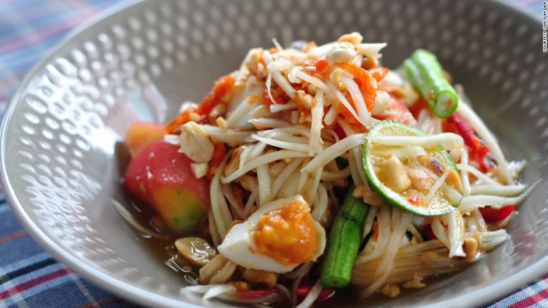 Papaya salad with salted egg -- no words can do it justice.