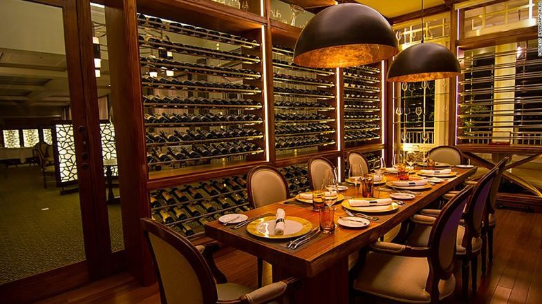 Hemingways is home to a spectacular wine cellar.