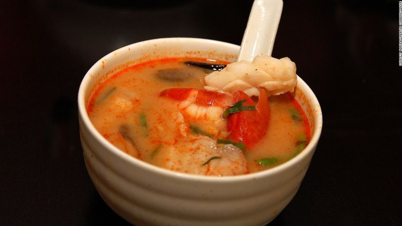 Do you eat or drink soup? Either way just get it inside you.