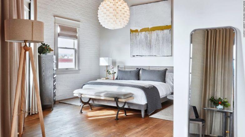 "The bedrooms are based on the Japanese idea of selfless hospitality -- ""omotenashi."""