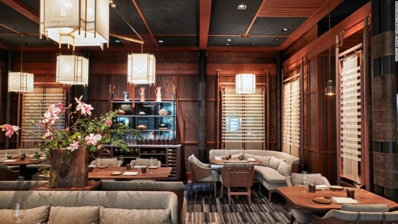 The welcoming dining room showcases Singlethread's culinary offerings.