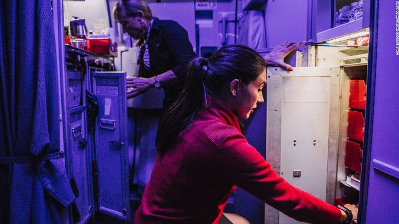 Choma captures behind the scenes at Virgin America.