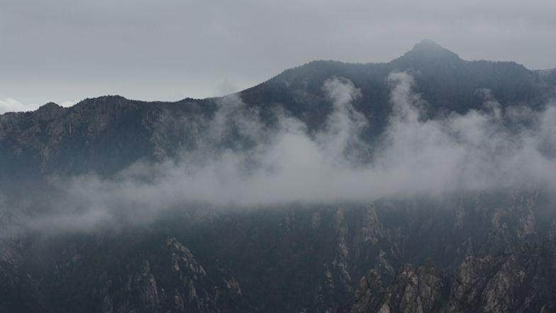 Atmospheric mountain sights at Taebaek Mountain.